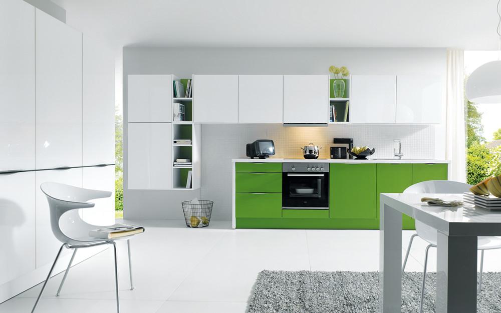 Kuchyně Schüller C GLASSLINE - sklo lesklé, křištálově bílá