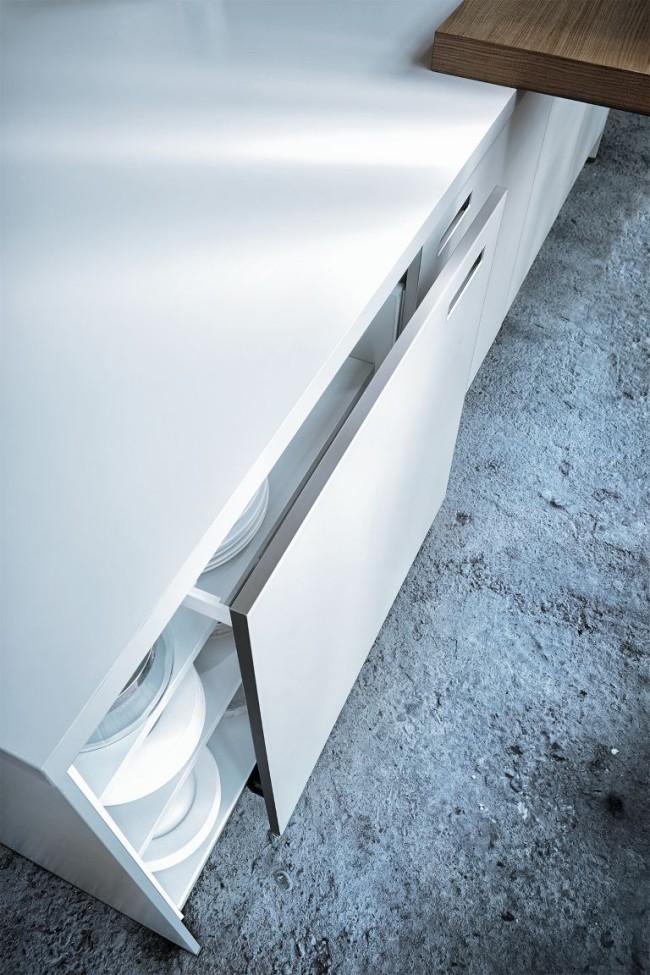 Kuchyne NX 902 Polárně bílá skleněná mat