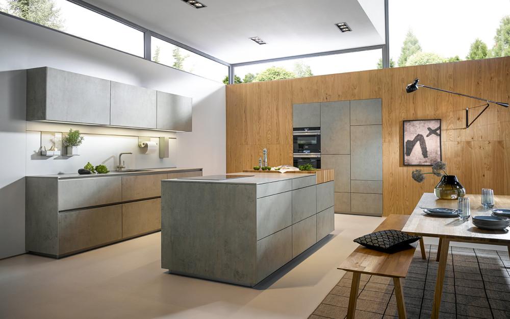 Kuchyně NX 950 Keramika beton šedý
