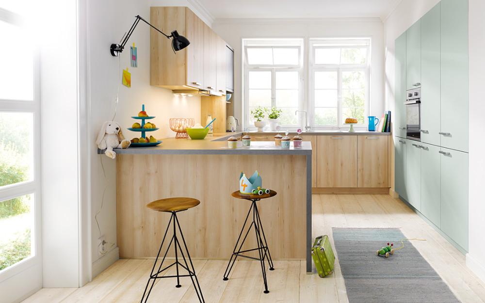 Kuchyně Schüller BARI buk castell imitace