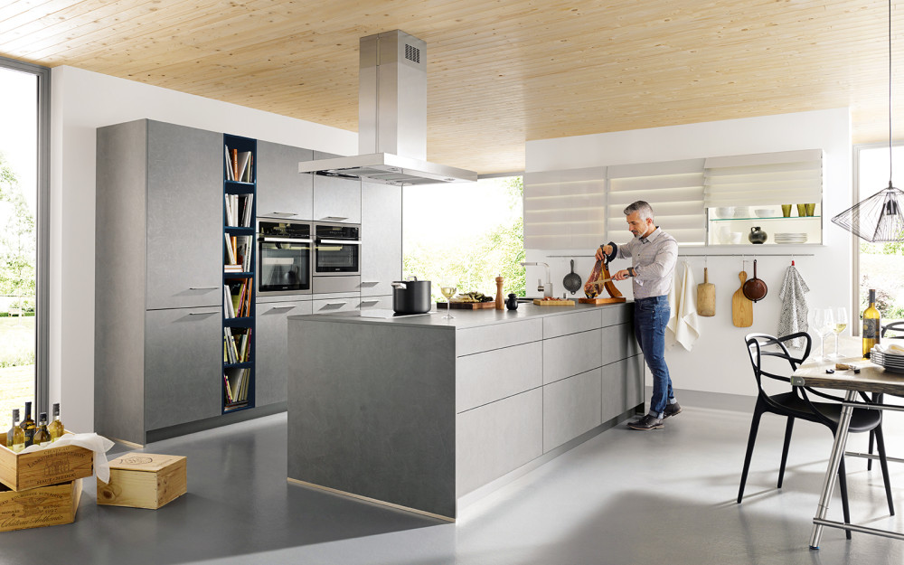 Kuchyně Schüller ELBA beton šedý