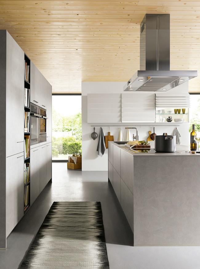 Kuchyně Schüller ELBA beton šedý - boční pohled
