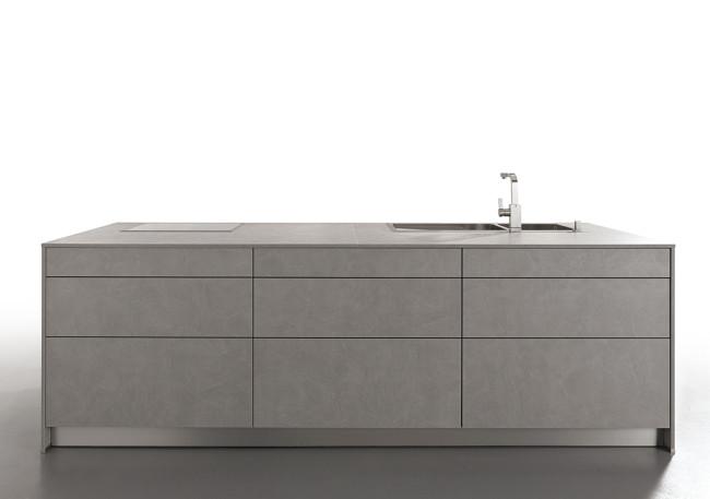 Kuchyně Schüller ELBA beton šedý-ostrůvek