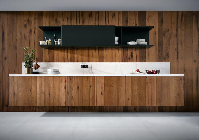Kuchyně next125 NX 500 Zelená saténová Jaguár - závěsná stěna